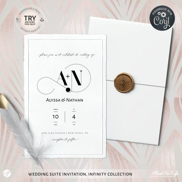 wedding invitation infinity collection