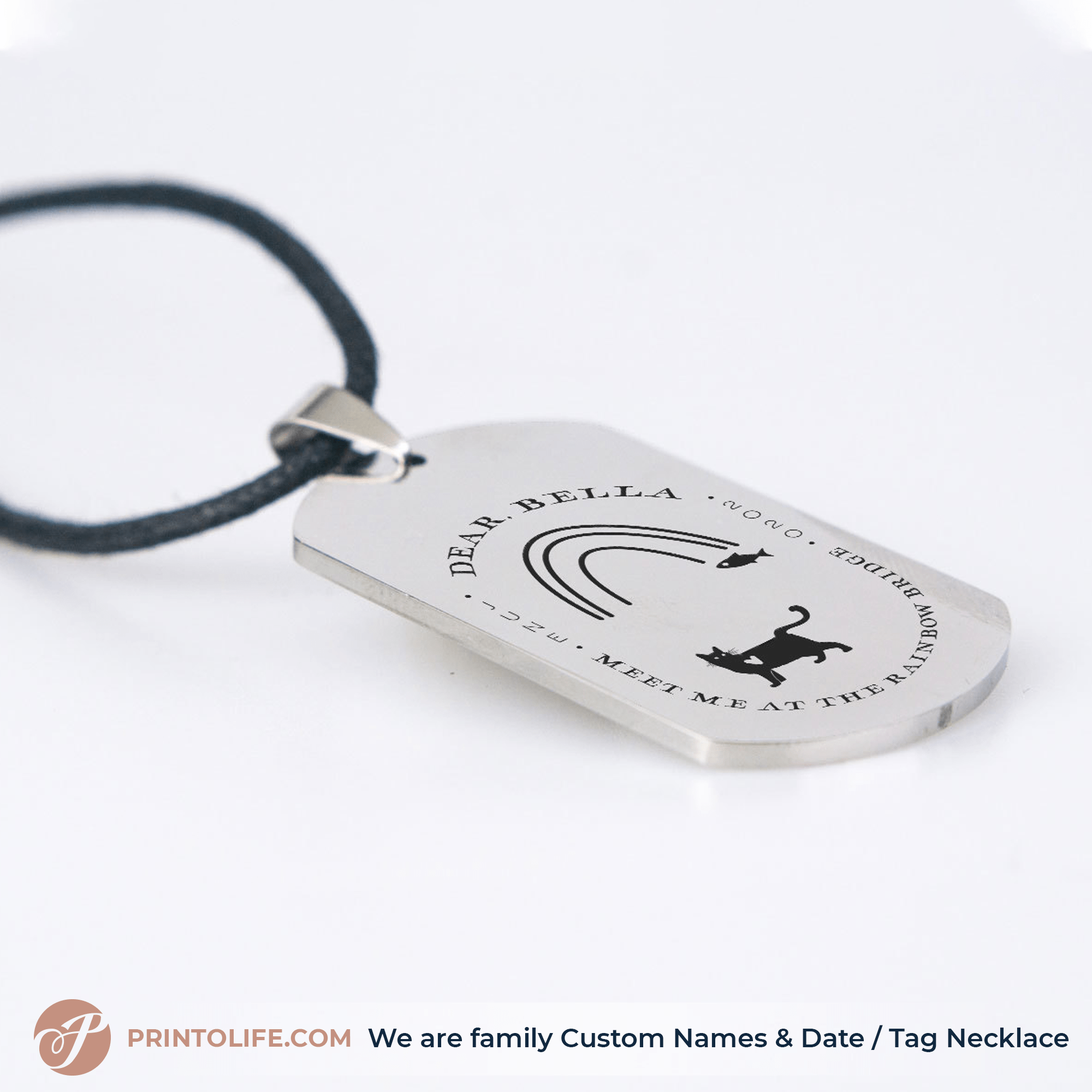 Pet memorial personalized Necklace