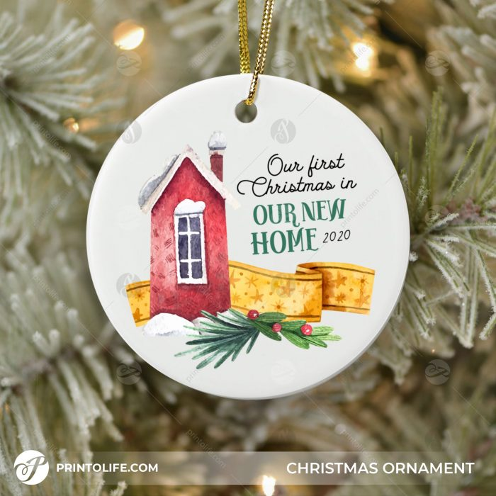 Our First Christmas In Our New Home Ornament, 1 Personalized Ornament with date 2