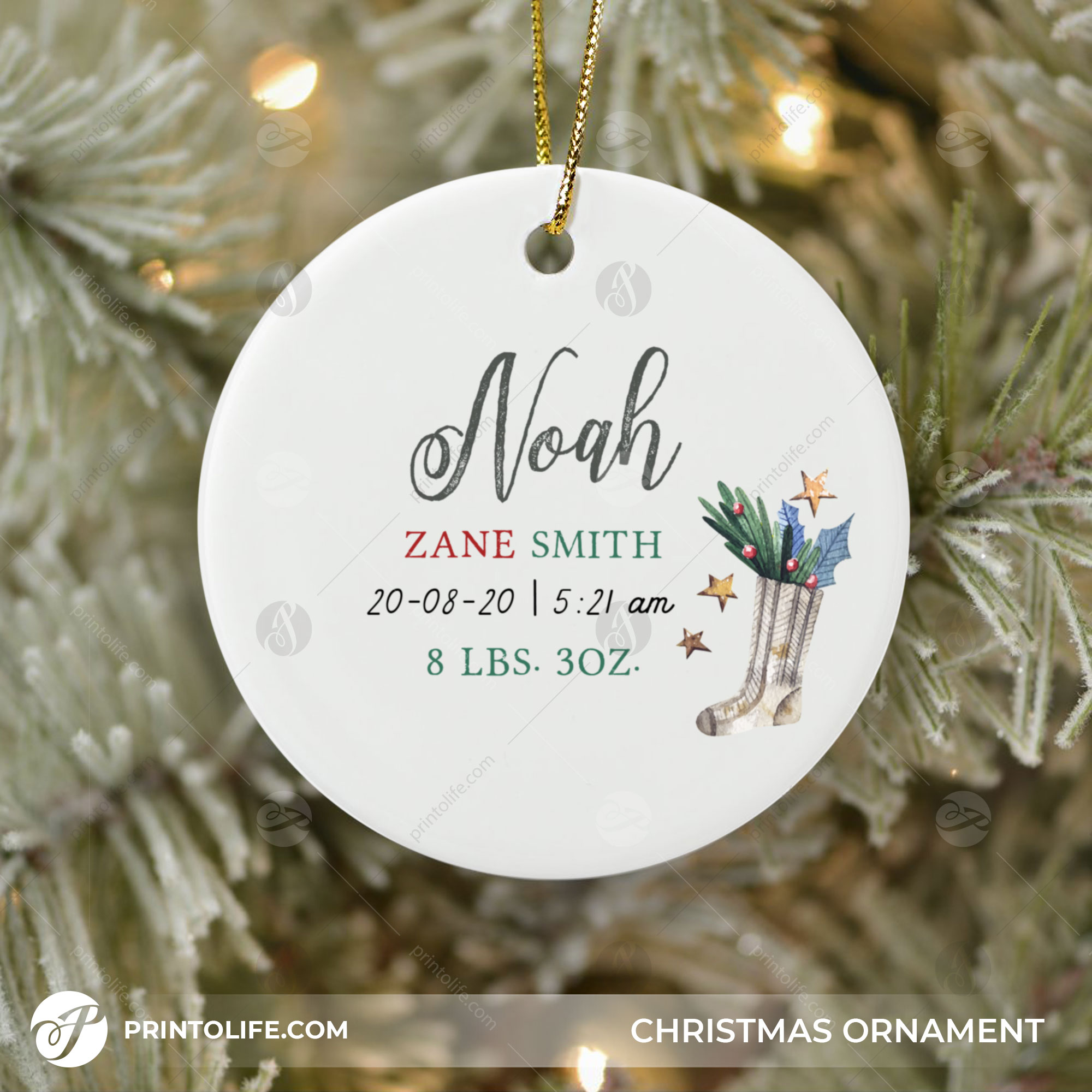 new baby christmas ornament