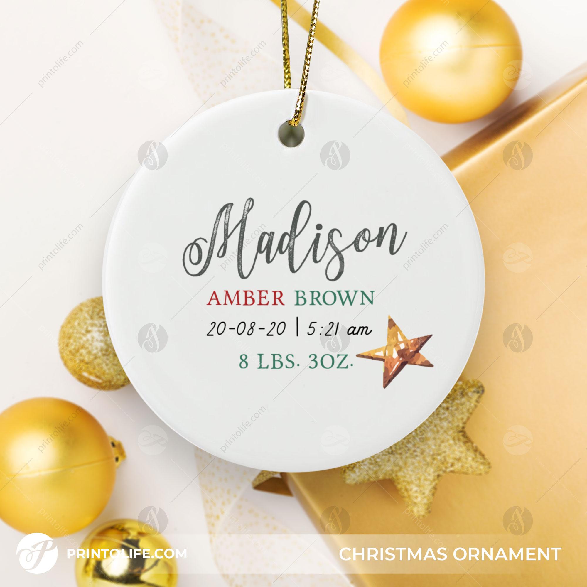 Newborn Christmas Ornament