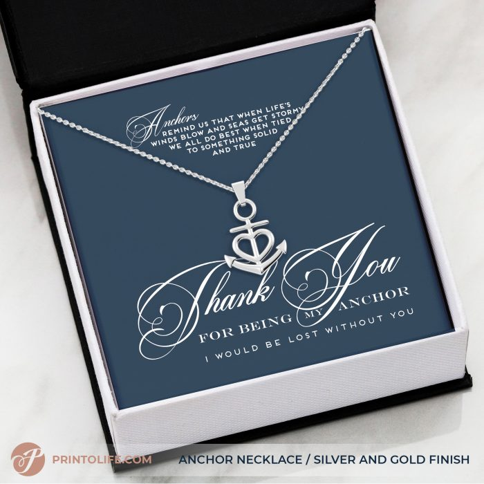 Thank you gift for her | Anchor Necklace | Best friend, Soulmate, Sister, Mom, Grandma, Aunt 7