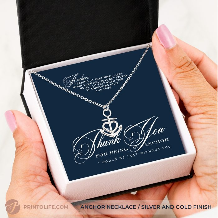 Thank you gift for her | Anchor Necklace | Best friend, Soulmate, Sister, Mom, Grandma, Aunt 8