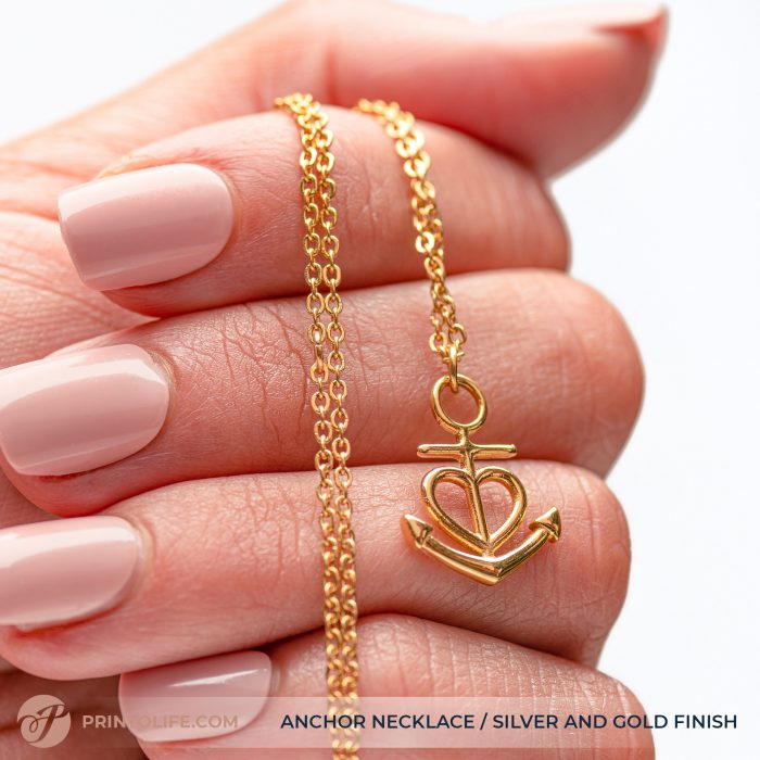 Thank you gift for her | Anchor Necklace | Best friend, Soulmate, Sister, Mom, Grandma, Aunt 1