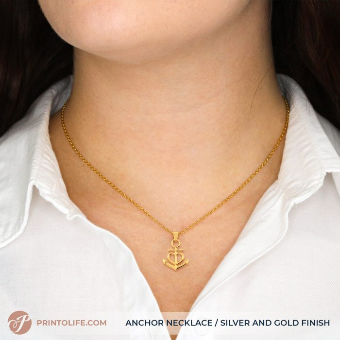 Thank you gift for her | Anchor Necklace | Best friend, Soulmate, Sister, Mom, Grandma, Aunt 2