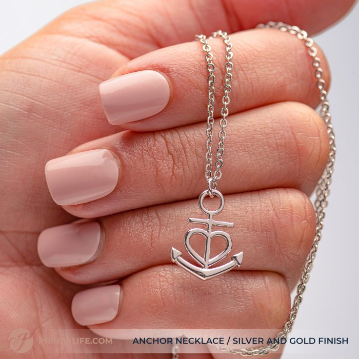 Thank you gift for her | Anchor Necklace | Best friend, Soulmate, Sister, Mom, Grandma, Aunt 5