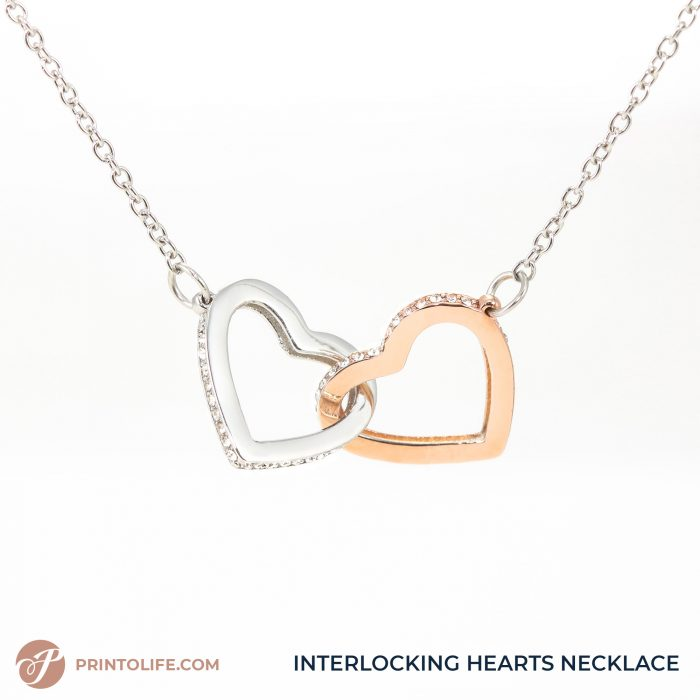 Long distance relationship gifts   Personalized Hearts Maps   1 Interlocked Hearts Necklace with Sweet Message 8